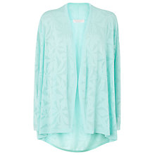 Buy Windsmoor Pointelle Cardigan, Aqua Online at johnlewis.com