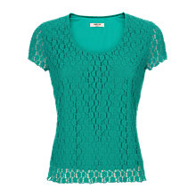 Buy Precis Petite Floral Lace Top, Jade Online at johnlewis.com