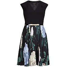 Buy Ted Baker Rose Pleat Dress, Multi Online at johnlewis.com
