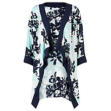 Buy Windsmoor Block Lily Print Kimono Jacket, Multi Blue Online at johnlewis.com