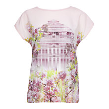 Buy Ted Baker Window Blossom T-shirt, Light Purple Online at johnlewis.com