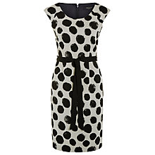 Buy Precis Petite Ottoman Spot Shift Dress, Black/White Online at johnlewis.com