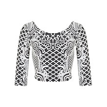 Buy Miss Selfridge Cable Jacquard Crop Top, Black Online at johnlewis.com