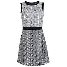 Buy Miss Selfridge Paisley Dress, White Online at johnlewis.com