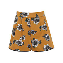 Buy Miss Selfridge Floral Shorts, Ochre Online at johnlewis.com