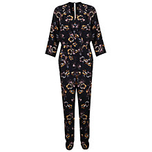 Buy Miss Selfridge Dark Floral Jumpsuit, Multi Online at johnlewis.com