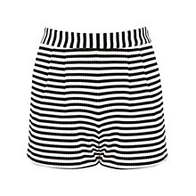 Buy Miss Selfridge Striped Textured Shorts, Multi Online at johnlewis.com