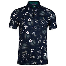 Buy Ted Baker Format Tropical Print Polo Shirt Online at johnlewis.com