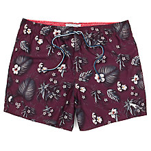 Buy Ted Baker Neilboo Printed Swim Shorts, Dark Red Online at johnlewis.com