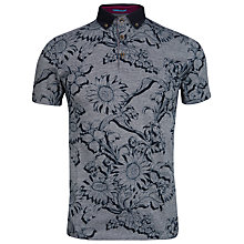 Buy Ted Baker Athias Floral Print Polo Shirt Online at johnlewis.com