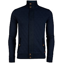 Buy Ted Baker Trustyu Quilted Cardigan, Navy Online at johnlewis.com
