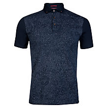 Buy Ted Baker Reeow Paisley Print Polo Shirt, Navy Online at johnlewis.com