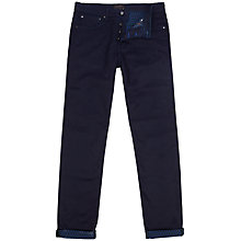 Buy Ted Baker Stover Printed Hem Slim Jeans, Rinse Denim Online at johnlewis.com