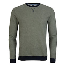 Buy Ted Baker Shumue Woven Sweatshirt, Green Online at johnlewis.com