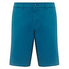 Buy BOSS Orange Liem Button Shorts, Turquoise Online at johnlewis.com
