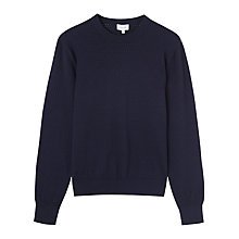 Buy Jigsaw Cotton Cashmere Pointelle Jumper Online at johnlewis.com