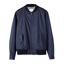 Buy Jigsaw Proofed Bomber Jacket, Navy Online at johnlewis.com