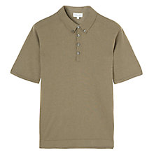 Buy Jigsaw Cotton Cashmere Knit Polo Shirt Online at johnlewis.com