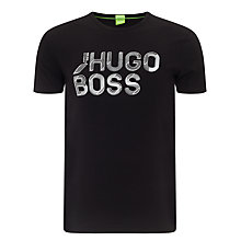 Buy BOSS Green Teeos Cotton T-Shirt, Black Online at johnlewis.com