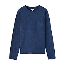 Buy Jigsaw Long Sleeve Cotton T-Shirt, Navy Online at johnlewis.com