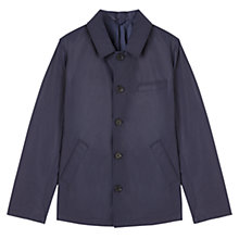 Buy Jigsaw Contrast Cotton Short Mac, Royal Blue Online at johnlewis.com