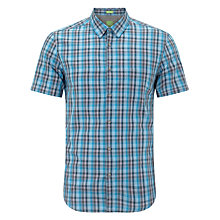 Buy BOSS Orange Bowa Short Sleeve Shirt, Turquoise Online at johnlewis.com