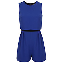 Buy Miss Selfridge Petite Sapphire Playsuit, Bright Blue Online at johnlewis.com