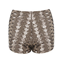 Buy Miss Selfridge Petite Sequin Shorts, Gold Colour Online at johnlewis.com