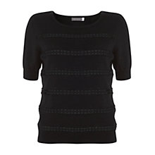 Buy Mint Velvet Lace Insert Knit Top Online at johnlewis.com