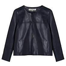 Buy Gerard Darel Leather Jacket, Blue Online at johnlewis.com