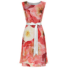 Buy Kaliko Poppy Print Dress, Multi Orange Online at johnlewis.com