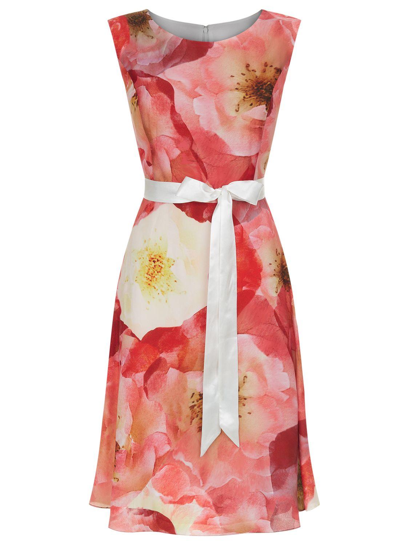 kaliko poppy print dress multi orange, kaliko, poppy, print, dress, multi, orange, 10 12 20 16 14 18, women, plus size, womens dresses, special offers, womenswear offers, womens dresses offers, 1866765