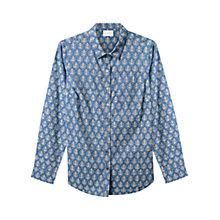 Buy East Lilith Booti Print Shirt, Sky Online at johnlewis.com