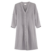 Buy East Linen Pintuck Shirt Dress, Smoke Online at johnlewis.com