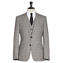Buy Reiss Shotel Three Piece Window Pane Check Wool Suit, Grey Online at johnlewis.com