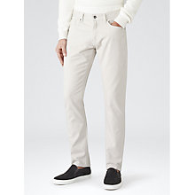 Buy Reiss Maurice Twill Slim Jeans, Stone Online at johnlewis.com