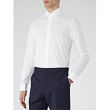 Buy Reiss Inca Classic Textured Shirt, White Online at johnlewis.com