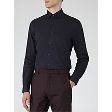 Buy Reiss Rhyme Textured Curved Collar Shirt Online at johnlewis.com