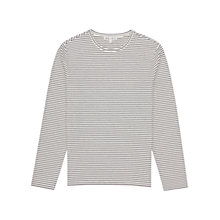 Buy Reiss Stripe Long Sleeve T-Shirt, Navy Online at johnlewis.com