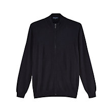 Buy Aquascutum Tomkis Merino Wool Cardigan, Navy Online at johnlewis.com