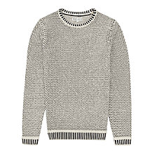 Buy Reiss Queens Contrast Weave Jumper Online at johnlewis.com