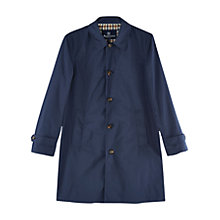 Buy Aquascutum Waterfield Hooded Coat, Navy Online at johnlewis.com
