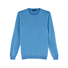 Buy Aquascutum Rolfe Crew Neck Merino Wool Jumper, Blue Online at johnlewis.com