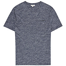 Buy Reiss Prospect V-Neck Pocket T-Shirt, Blue Online at johnlewis.com
