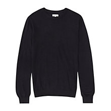 Buy Reiss Riddle Merino Wool Crew Neck Jumper, Navy Online at johnlewis.com