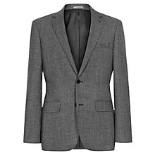 Buy Reiss Lance Melange Weave Wool Slim Fit Suit Jacket, Charcoal Online at johnlewis.com