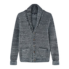 Buy Aquascutum Dunn Heavy Knit Cardigan, Grey Online at johnlewis.com