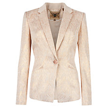 Buy Ted Baker Ashly Snake Print Blazer, Beige Online at johnlewis.com