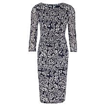 Buy Viyella Burnout Floral Jersey Dress, Navy Online at johnlewis.com