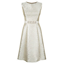 Buy Kaliko Jacquard Embellished Prom Dress, Light Grey Online at johnlewis.com